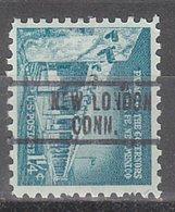 USA Precancel Vorausentwertung Preo, Locals Connecticut, New London 813 - Vereinigte Staaten
