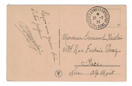 """1924 -  CAD MILITAIRE """" COLOGNE / POSTES ARMÉES ENTREPOT """" Sur CP De KOLN HOHENZOLLERNBRUCKE Pour NICE ALPES MARITIMES - Marcophilie (Lettres)"""