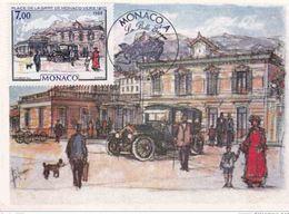 Carte Maximum MONACO  TTB! 1988 Monaco à La Belle époque  Place De La Gare De Monaco Vers 1910 - Cartes-Maximum (CM)