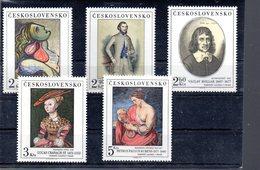 TCHECOSLOVAQUIE 2246/2250** SUR DES TABLEAUX DES GALERIES NATIONALES  DONT RUBENS - Tchécoslovaquie