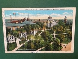 Cartolina Bird's Eye View Of Campus - University Of Michigan - 1930 - Cartoline