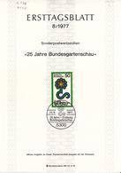 "BRD 1977. Ersttagsblatt 8/1977 ""Bundesgartenschau"" (6.978) - [7] République Fédérale"
