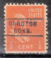 USA Precancel Vorausentwertung Preo, Locals Connecticut, Noroton 743 - Vereinigte Staaten