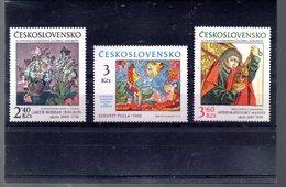 TCHECOSLOVAQUIE 2305/2307** SUR LE 30E ANNIVERSAIRE DE LA GALERIE NATIONALE SLOVAQUE DE BRATISLAVA - Tchécoslovaquie