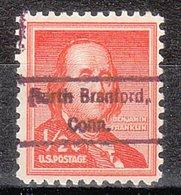 USA Precancel Vorausentwertung Preo, Locals Connecticut, North Branford 809 - Vereinigte Staaten