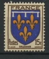 FRANCE - ORLEANAIS - N° Yvert 604** - 1941-66 Armoiries Et Blasons