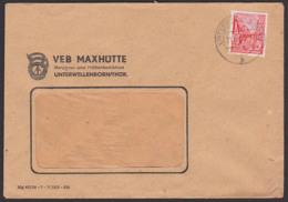 Unterwellenborn VEB Maxhütte Bergbau- Und Hüttenkombinat, Banner Der Arbeit, Fernbrief 21.5.56 - [6] République Démocratique