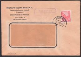 Buchenau über Eisenach 2, Fernbrief 24.5.56 Poststellenstempel, Deutschre Solvay-Werke A.G. Sodafabik Post Mihla - [6] République Démocratique