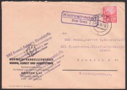 Kleinreinsdorf über Greiz, Fernbrief 31.5.55 Poststellenstempel, DHZ Gummi Asbest Kunststoffe - [6] République Démocratique