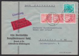 """Lobenstein Thüringen, Eil-Fernbrief 11.2.60 Bier """"Erste Oberländische Dampfbierbrauerei"""" - [6] République Démocratique"""
