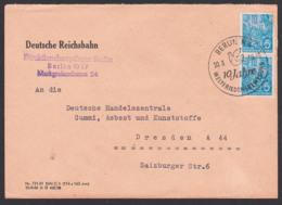BERLI N4 Fernbrief 20.3.59 SoSt. 10 Jahre Weltfriedensbewegung, Friedenstaube Abs. Deutsche Reichsbahn, Colombe Dove - [6] République Démocratique