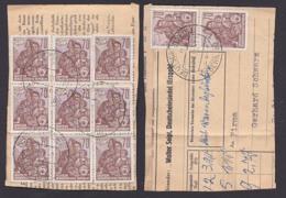 DDR 70 Pf. Fünfjahrplan In MeF(11) Auf Paketkarten-Briefstück Deutscheinsiedel über Olbernhau 19.8.61, Postinterna - [6] République Démocratique