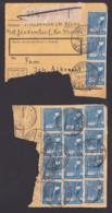 Jördentorf Kr. Malchin Mecklenburg 20 Pf. Sähmann In MeF(12) Auf Paketkarten-Briefstück 11.5.48, Postinterna - Zone AAS