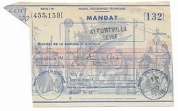 1957 - COUPON De MANDAT De ALFORTVILLE - Entiers Postaux