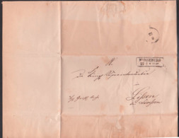 MERSEBURG 1861 Altbief Herrschaftlich Christliche Sache Nach Lissen Bei Stößen An Königl. Superintendatur - Allemagne