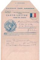 1915 - CARTE LETTRE VENANT DES ARMÉES FM Avec ILLUSTRATION DRAPEAU NICE CACHET TRESOR ET POSTES 168 - Cartes De Franchise Militaire