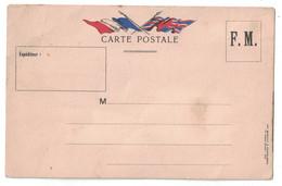 CARTE POSTALE NEUVE CORRESPONDANCE MILITAIRE FM IMP. BONFANT & RAMPELBERG NICE Avec DRAPEAUX FRANCE ANGLETERRE - Cartes De Franchise Militaire