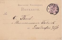 C Entier 5pf Violet P 12 Deutsche Reichpost Postkarte An... Obl. Soerlitz 3 A Le 27/1/81 - Allemagne