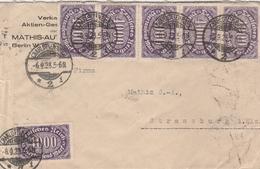 Allemagne Lettre Inflation Pour Strasbourg 1923 - Allemagne