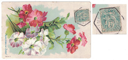 """1905 - CACHET HEXAGONAL De RECETTE AUXILIAIRE """" ASILE DEPARTEMENTAL PIERREFEU """" (VAR) Sur CP FANTAISIE - Marcophilie (Lettres)"""
