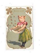 11110 - CPA Gauffrée, Cochon, Bonne Année, - Cochons