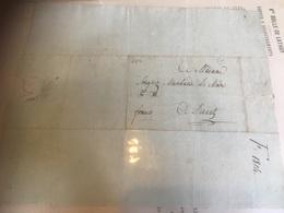 Lettre De Namur Pour Dînant 1814 + Griffe Franco Manuscrite - 1794-1814 (Periodo Frances)