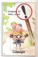 CPA 60 COMPIEGNE CARTE SYSTEME CRAMPONNE TOI CHERIE JE VOIS COMPIEGNE RARE BELLE CARTE !! - Compiegne