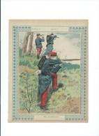 Infanterie Armée Française En Tirailleurs Couverture Protège-cahier  TB 3 Scans Texte Au Dos - Protège-cahiers