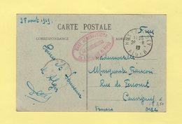 Base Aeronautique De L'Afrique Du Nord - Hussein Dey - 1919 - Alger - Marcofilia (sobres)