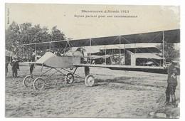 Manoeuvres D'armée 1913 Biplan Partant Pour Une Reconnaissance - 1914-1918: 1ère Guerre