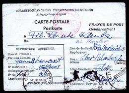 A5910) POW Kriegsgefangenenkarte V. Frankreich 25.06.46 N. Fürth - Gemeinschaftsausgaben