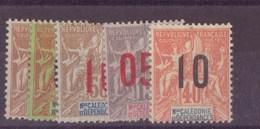 Nouvelle-Calédonie N° 105 à 109** - Neufs