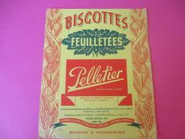 Buvard/Biscottes/  Pelletier/Biscottes Feuilletées/ ROMAINVILLE/(Seine)//Vers 1940-60  BUV388 - Zwieback