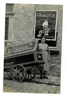Carte Photo.Chocolat VANOVA. Ww.Verschaaren  Zeelstraat 76. Anvers. - Antwerpen