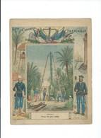 TUNISIE Puits Artésien Marabout à Tunis Protège-cahier Couverture 220 X 175 Bien 3 Scans Colonies Françaises - Protège-cahiers