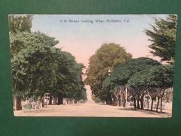 Cartolina Th Street Looking West - Hollister - Cal - 1908 - Cartoline