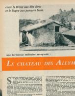 1960 : Document, CHATEAU DES ALLYMES (Hameau De Brey De Vent, Ambérieu-en-Bugey), Tour Des Gardes, Tour Carrée... - Vieux Papiers