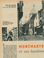 1960 : Document, MONTMARTRE, Sacré-Coeur, Moulin De La Galette, Bateau-Lavoir, Château Des Brouillards, Peintres... - Vieux Papiers