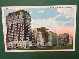 Cartolina Michigan Avenue - North From Blackstone Hotel - Chicago - 1920 - Cartoline