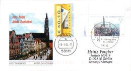 """BRD Schmuck-FDC  """"800 Jahre Stadt Landshut"""", Mi. 2376 ZF ESSt 8.1.2004 BONN - BRD"""