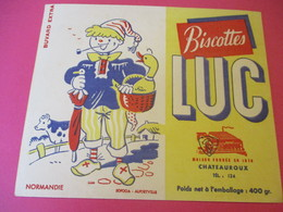 Buvard/Biscottes/LUC//CHATEAUROUX/400 Gr/Normandie /SOFOGA//Vers 1940-60  BUV391 - Zwieback