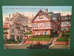 Cartolina Artistic Apartment Houses - San Francisco - California - 1920 - Cartoline