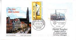 """BRD Schmuck-FDC  """"800 Jahre Stadt Landshut"""", Mi. 2376 ZF ESSt 8.1.2004 BERLIN ZENTRUM - BRD"""
