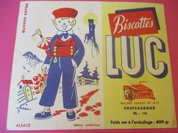 Buvard/Biscottes/LUC//CHATEAUROUX/400 Gr/Alsace /SOFOGA//Vers 1940-60  BUV392 - Zwieback