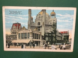 Cartolina Marlbrought Hotel And Boardwalk Atlantic City - 1926 - Cartoline
