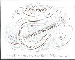 """Carte Porcelaine  """"Le Bedeau"""" Grande Harmonie Royale Bonne Année  Bruxelles - Feesten En Evenementen"""