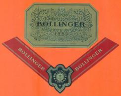 étiquette + Collerette Neuves De Champagne Brut Vintage Grande Année 1985 Bollinger à Ay - 75 Cl - Champagne