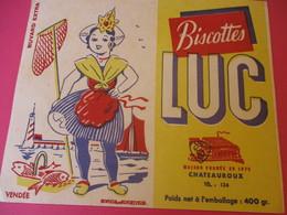 Buvard/Biscottes/LUC//CHATEAUROUX/400 Gr/Vendée /SOFOGA//Vers 1940-60  BUV393 - Zwieback