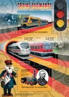 MVT-BK1-541 MINT PF/MNH ¤ BURUNDI 2012 4w In Serie ¤ HISTORY OF TRAINS - CHEMINS DE FER EISENBAHN FERROVIE - Trains