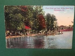 Cartolina Picnic Grove And Lake - Willow Grove Park - Philadelphia - 1912 - Cartoline